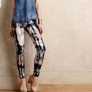 MCGUIRE Tassel Slim Babouche Tie Dye Jeans